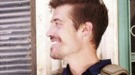 James Foley in Aleppo, Syria in 2012