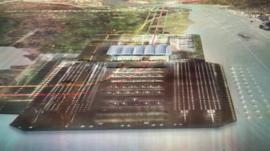 Potential design for Thames Estuary airport