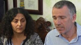 Brett and Naghemeh King give a news conference in Spain