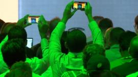 Audience at Ifa show in Berlin