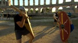 Gladiator fighting in Croatia