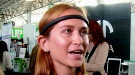 Laura Berman wearing Melon headband
