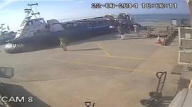 Hovercraft on CCTV