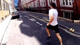 Man running to race the tube