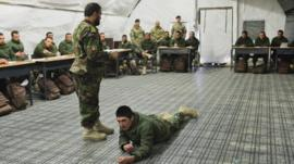 Picture showing Afghan military trainers