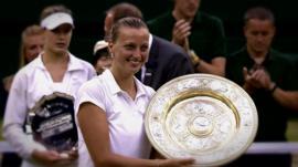 2014 Wimbledon ladies' singles champion Petra Kvitova