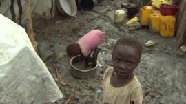 Children in UN refugee camp, South Sudan