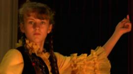 Dancer at Kazakh cultural evening