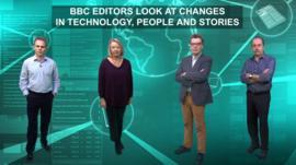 BBC's Nick Sutton, Helen Thomas, Tarik Kafala and Steve Herrmann