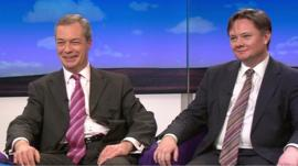 Nigel Farage and Iain Wright