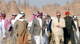 Prince Charles with Saudi Arabia's Prince Sultan bin Salman
