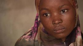 A Nigerian refugee