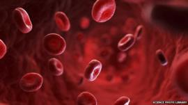 A computer generated image of red blood cells