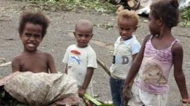 Children in Port Vila