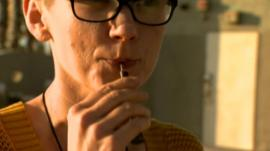 Sarah Amento takes cannabis oil to help treat cancer