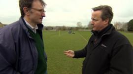 James Landale and David Cameron