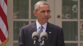 Barack Obama speaking about Iran's nuclear programme