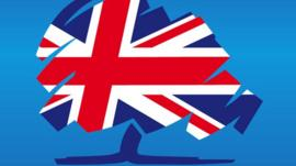 Close up of Conservative Party logo
