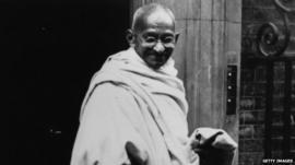 Mahatma Gandhi wearing khadi