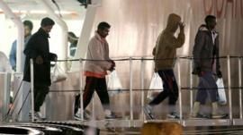 Survivors of migrant boat shipwreck arrive in Sicily