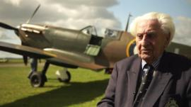 Ken Wilkinson and a Spitfire