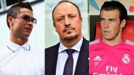 Cristiano Ronaldo, Rafa Benitez, Gareth Bale