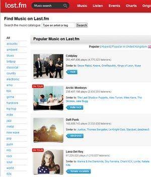 Last FM website