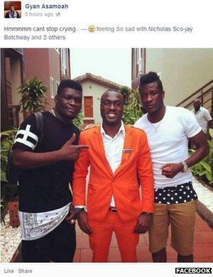 Asamoah Gyan's Facebook tribute