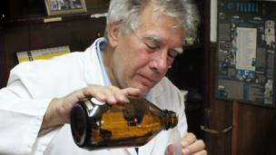 'Nenad making perfume' from the web at 'http://ichef.bbci.co.uk/news/304/cpsprodpb/1148D/production/_86679707_perfume-promo-man-976.jpg'