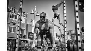 Bodybuilders at the Muscle Beach Gym