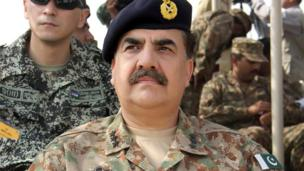 'File photo: Raheel Sharif' from the web at 'http://ichef.bbci.co.uk/news/304/cpsprodpb/12300/production/_86669447_86669446.jpg'