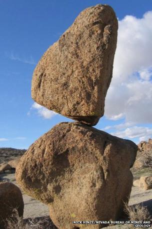 balancing rock in Nevada