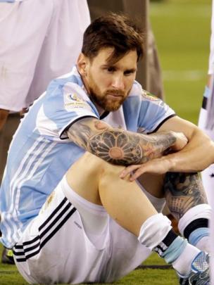 Messi después del penal