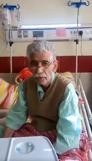 ذکرالله رحمانیان در بیمارستان امام خمینی ساری
