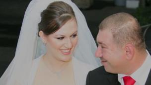 'Nadia al Alami and Ashraf al Akhras' wedding<div style=