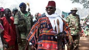 Selon Jammeh, seule une intervention divine aurait pu le chasser du pouvoir. Concernant les dizaines de leaders de l'opposition en prison, Yahya Jammeh affirmait qu'il ne leur pardonnerait jamais.