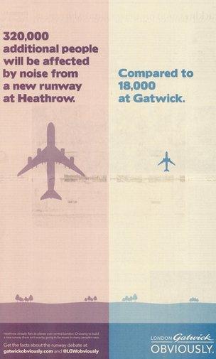 Gatwick advertisement