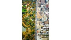 An aerial view of Central Park, New York