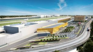 CGI of the expanded airport c.2025