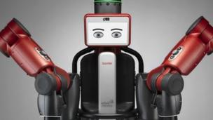 'Baxter, one of the robots made by Rethink Robotics' from the web at 'http://ichef.bbci.co.uk/news/304/cpsprodpb/58AD/production/_86710722_rethink_robotics_baxter_gray_bkground.jpg'