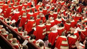 'The House of Lords at the state opening of parliament<div style=