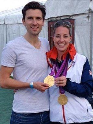 Tom Hunt with Charlotte Dujardin