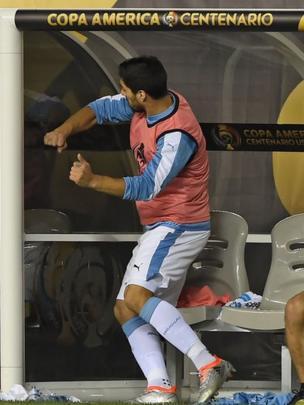 Luis Suárez furioso