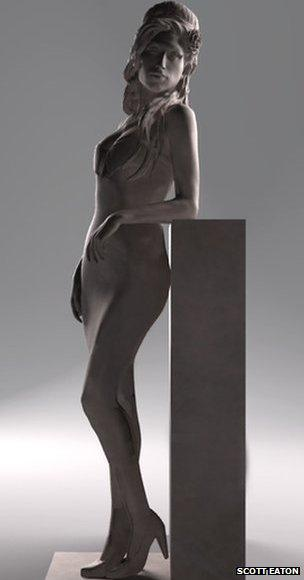 Maquette of Amy Winehouse statue