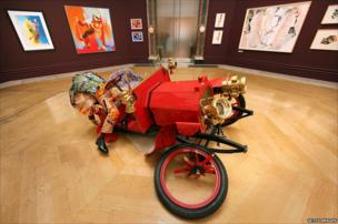 A work by artist Yinka Shonibare MBE entitled Crash Willy