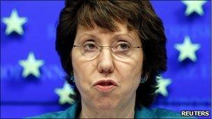 "Baroness Ashton said EU foreign ministers had raised no concerns about ""mission creep"" - _53411436_ashton_reuters"