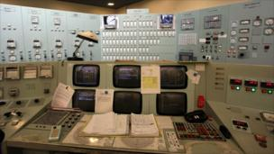 Oldbury Power Station - view inside the control room