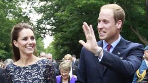 The Duchess and Duke of Cambridge on their first trip to Ottawa, Canada