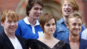The cast of Harry Potter and the Deathly Hallows: Part 2 at a photocall in London in July 2011