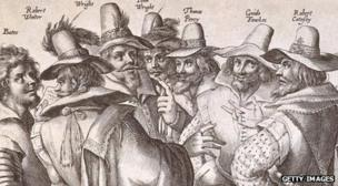 Guy Fawkes and conspirators of the Gunpowder Plot